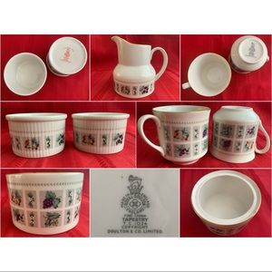 ROYAL DOULTON & CO.🍶 Vintage Fine China Tapestry